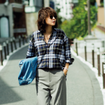 フラット靴×新ゆるパンツ で秋コーデをもっと女らしく!No.2