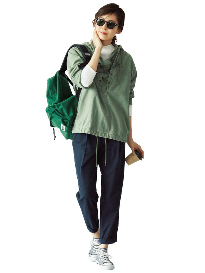 フラット靴×新ゆるパンツ で秋コーデをもっと女らしく!3-3