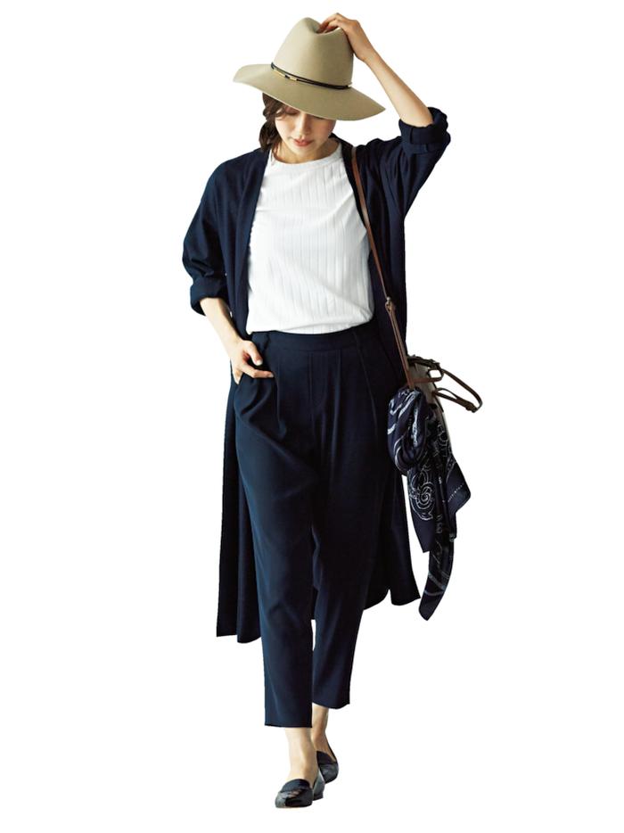 フラット靴×新ゆるパンツ で秋コーデをもっと女らしく!3-4