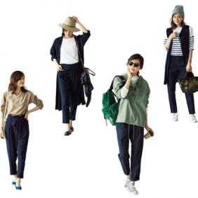 フラット靴×新ゆるパンツ で秋コーデをもっと女らしく!No.3