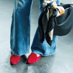 フラット靴×新ゆるパンツ で秋コーデをもっと女らしく!vol.4
