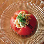 トマトのおひたしツナ梅のせ