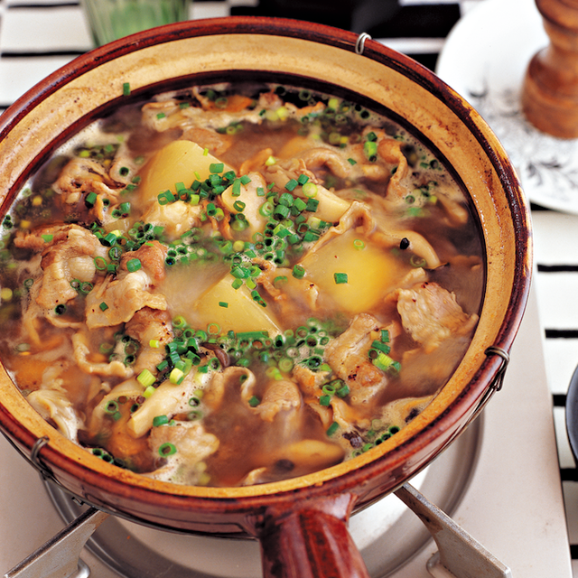 豚バラ肉ときのこの中華鍋
