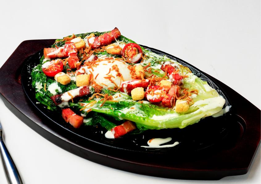 【東京】ロメインレタスの焼きシーザーサラダ