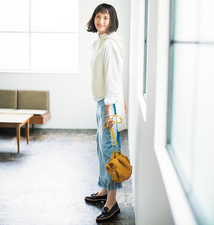 雑誌のモデルをしている青木裕子