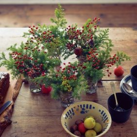 「ウヴル」の12月、テーブルを彩る花vol.1