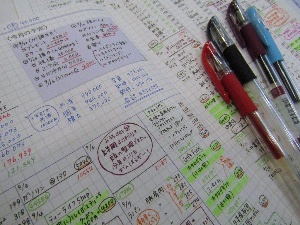 家計簿を書くためにづんさんが愛用しているのは、ペン先が細い「ユニボールシグノ0.28」。