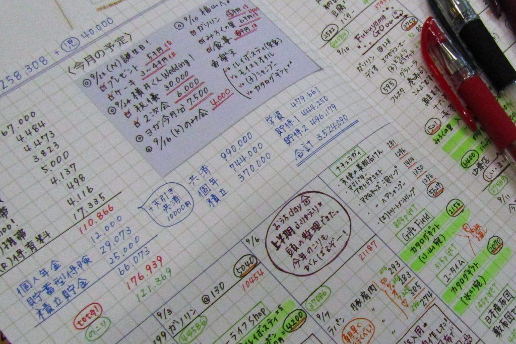 づん の 家計 簿 書き方