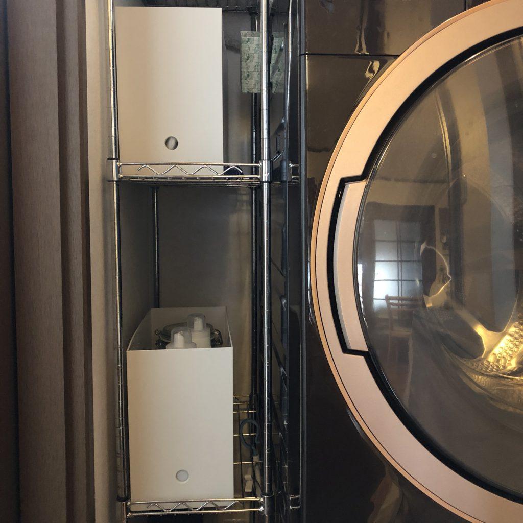 ファイルなので、洗濯機の説明書なども入れられます。 生活感が消せるアイテム。