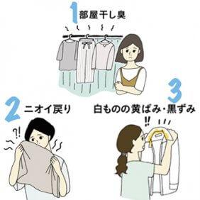 洗濯3大悩み