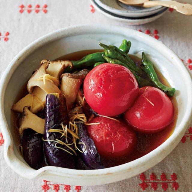 トマトと夏野菜の焼きびたし