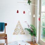 壁に飾るクリスマス