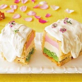ひしもちカラーのアイスケーキ