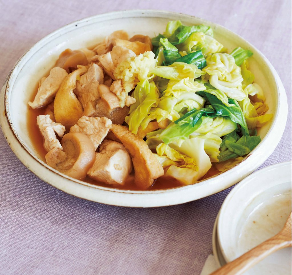 「鶏むね肉とキャベツの治部煮風」/重信初江さん