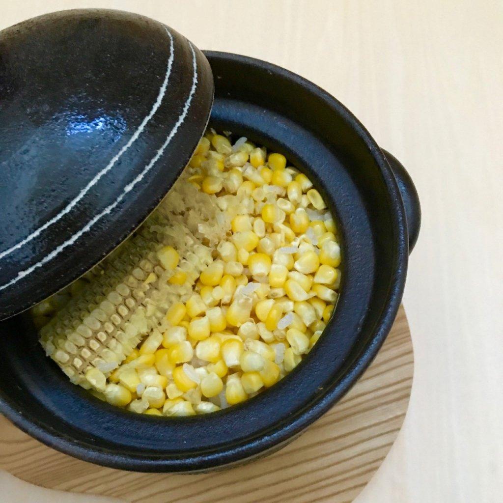 とうもろこし ご飯 土鍋