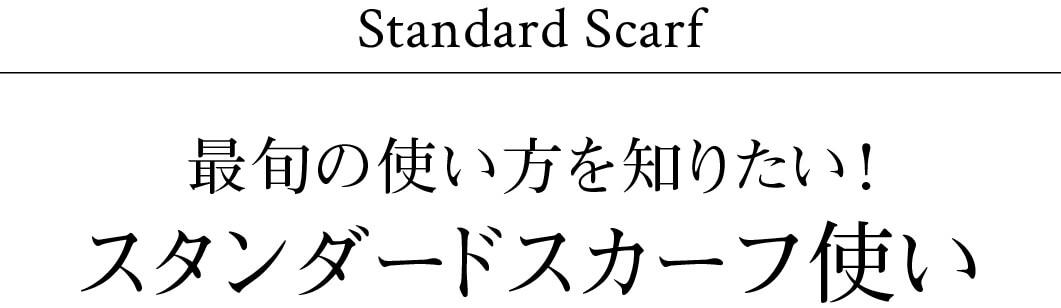 最旬の使い方を知りたい!スタンダードスカーフ使い