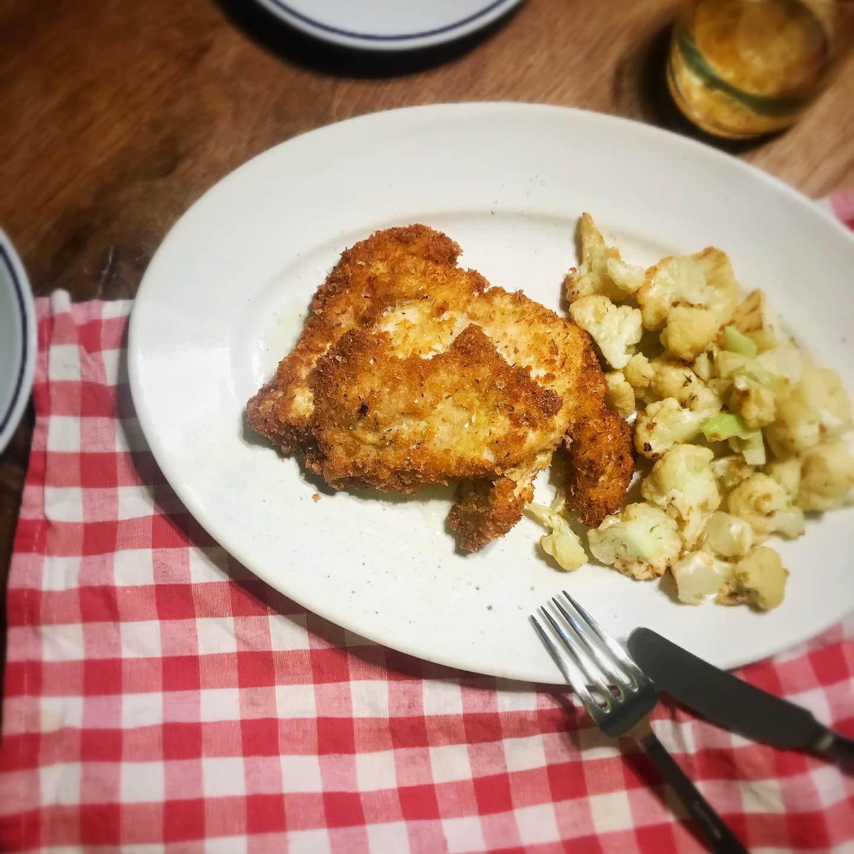 鶏むねのミラノ風ハーブカツ