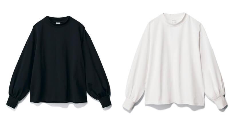 ギャザースリーブTシャツ