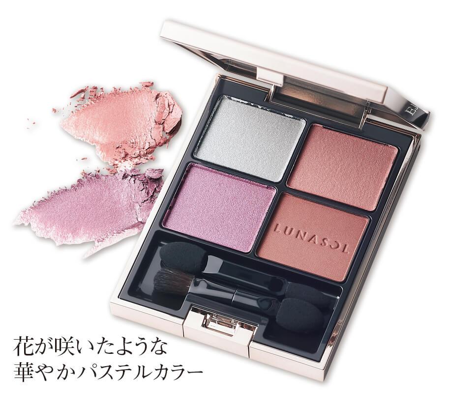 花が咲いたような 華やかパステルカラー ルナソル アイカラーレーション12¥6200/カネボウ化粧品