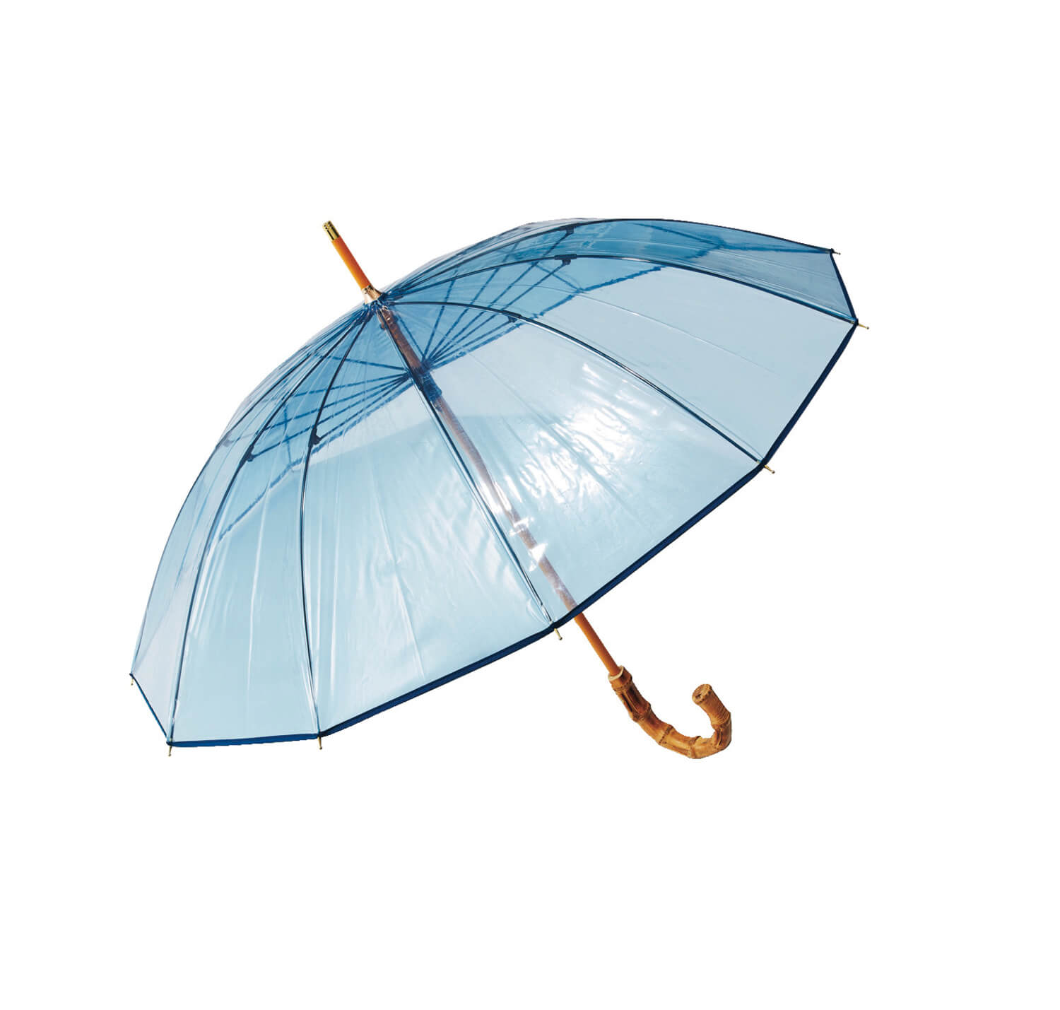Traditional Weatherwear BAMBOO CLEAR UMBRELLA