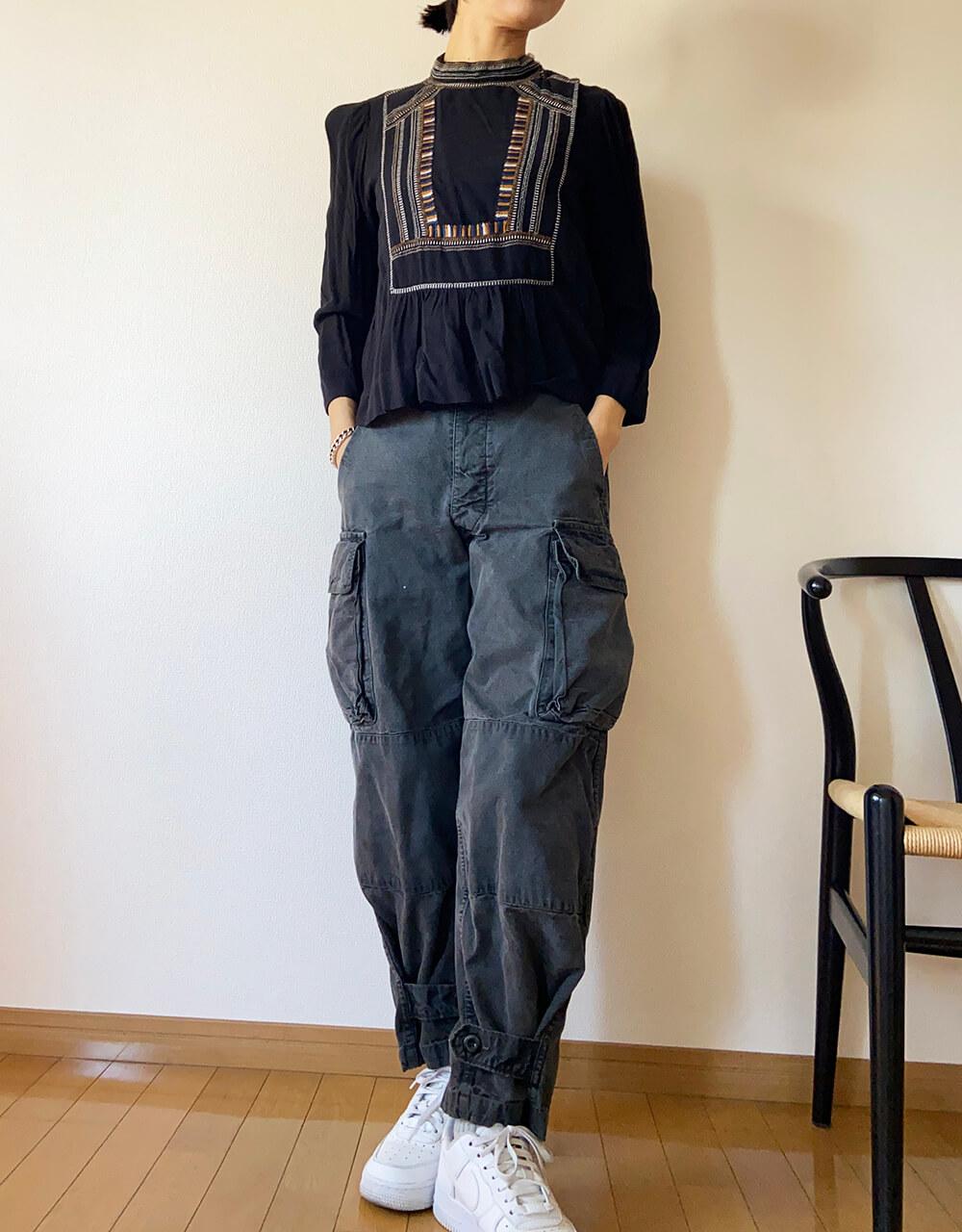 高木綾子/エアフォース1 シャツ/イザベルマラン(5年くらい前のものです) パンツ/ウティ