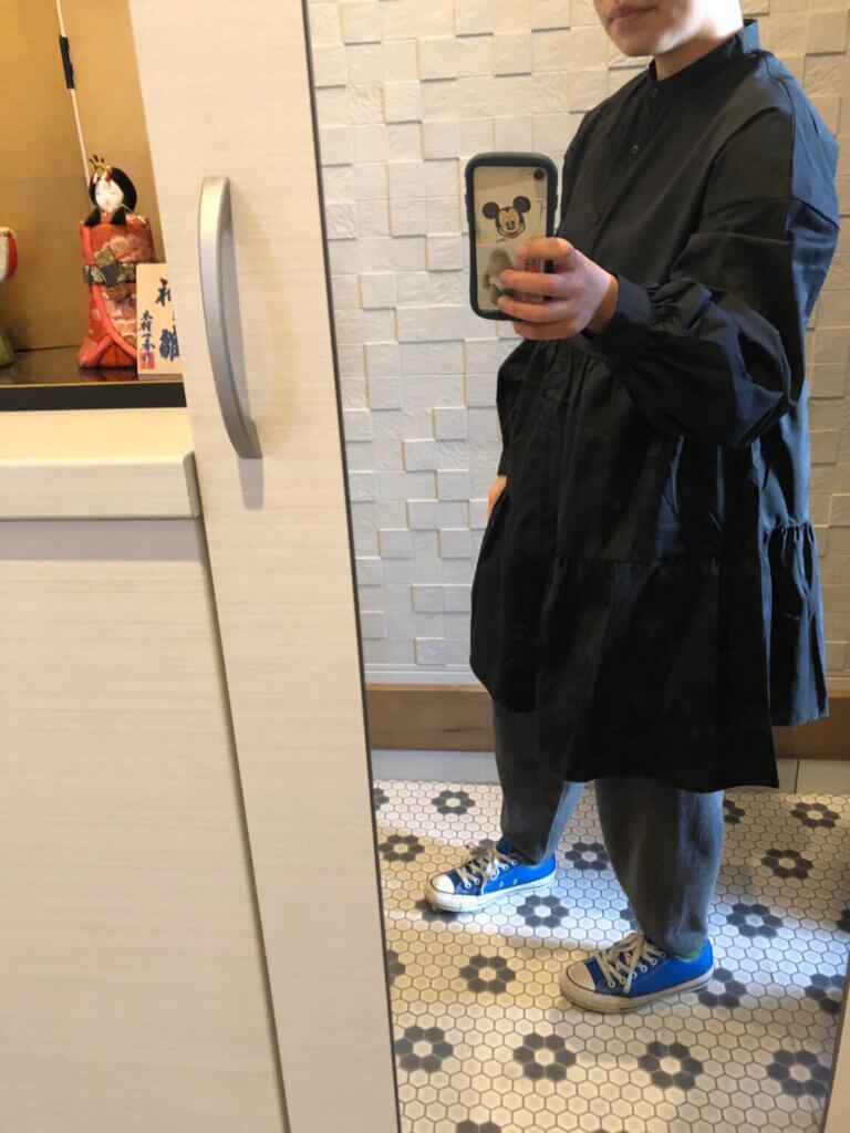 GUティアードミニシャツワンピース買いました