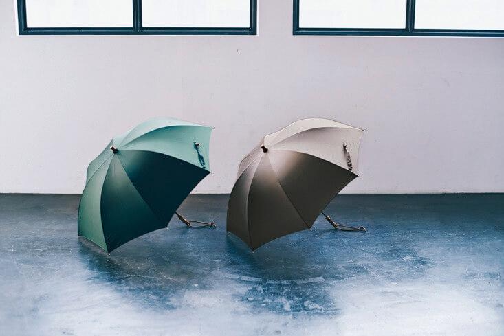 バンブーハンドル軽量晴雨兼用長傘