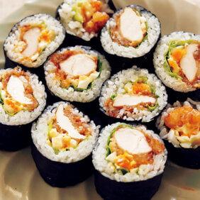「唐揚げの太巻き寿司」レシピ/小林まさみさん