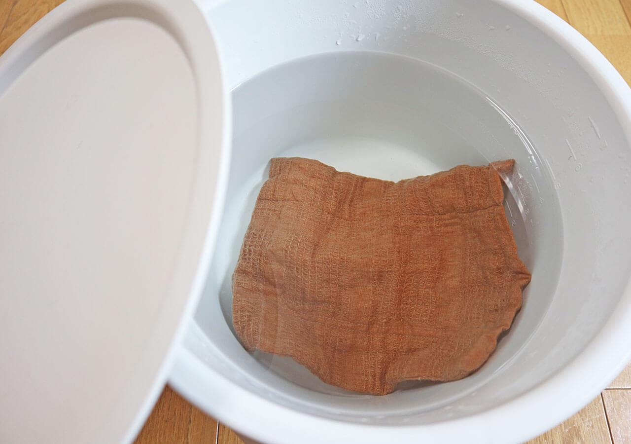 華布ナプキンの洗い方①