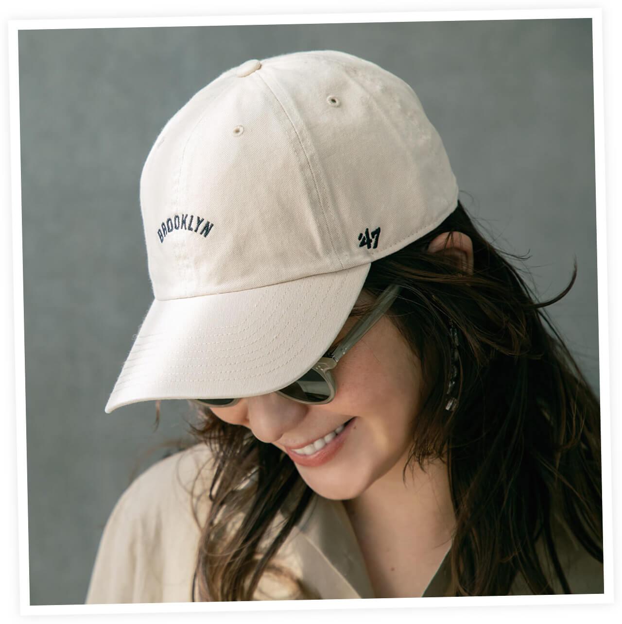 帽子¥3850/OSM インターナショナル(フォーティーセブン)