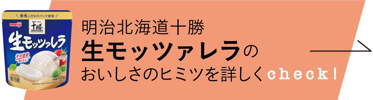 明治北海道十勝-生モッツァレラのおいしさのヒミツを詳しくCheck!