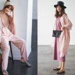 【蛯原友里さんが着る大人のピンク・2021春夏】Tワンピ&パンツスタイルの最旬コーデ