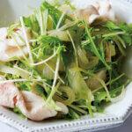 アイキャッチ画像:【べんり漬けアレンジ】「豚しゃぶ、玉ねぎ、水菜のおかずサラダ」レシピ/榎本美沙さん