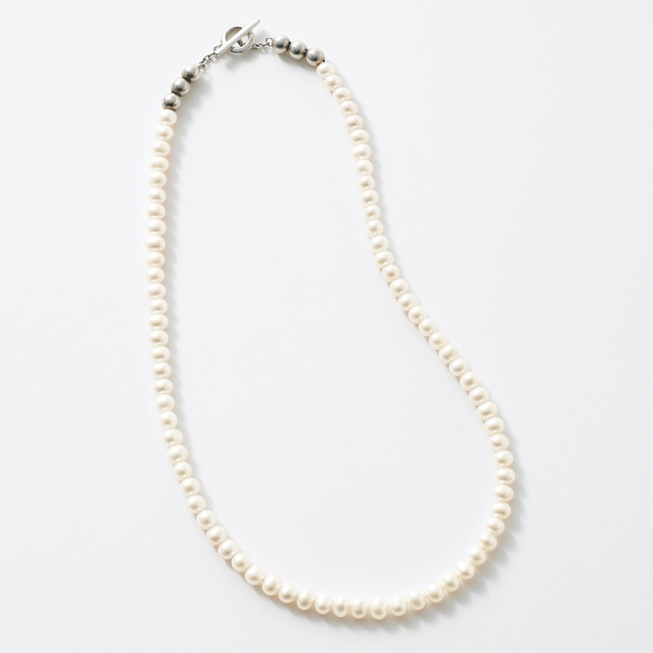 Sympathy of soul style シンパシー オブ ソウル スタイル Pearl Beads T-bar Necklace ¥24200