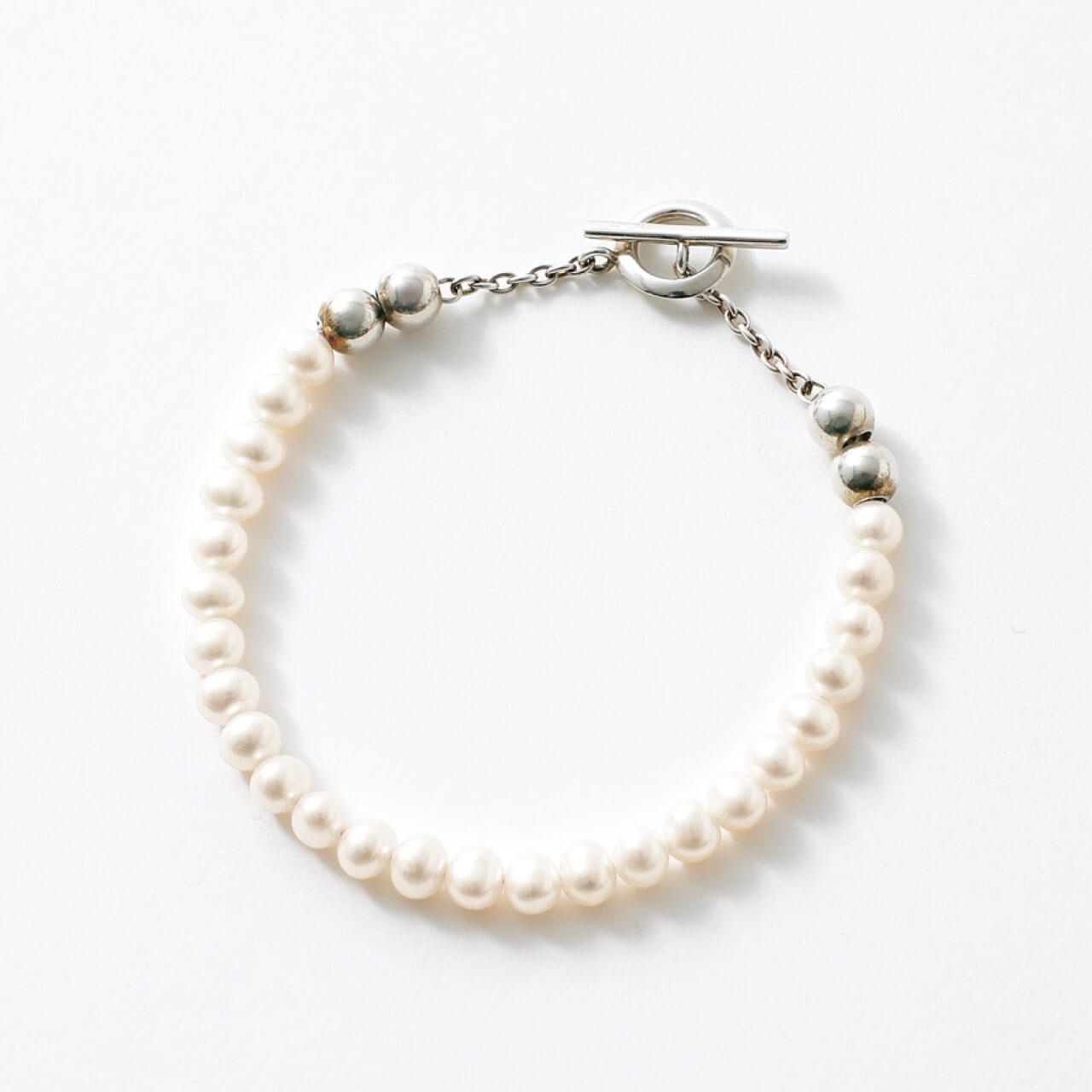 Sympathy of soul style シンパシー オブ ソウル スタイル Pearl Beads T-bar Bracelet ¥17600