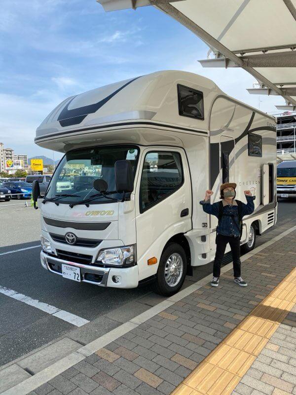 福田麻琴さんの家族旅行で使ったキャンピングカー