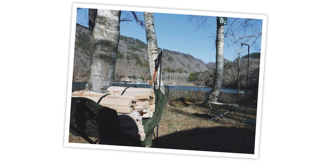 川口ゆかりさんの四尾連湖 水明荘キャンプ写真