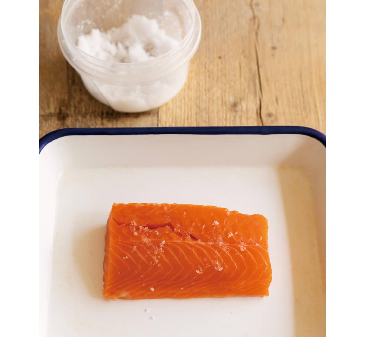 塩を振り、余分な水分とくさみを抜いてから煮ると、うま味も凝縮。
