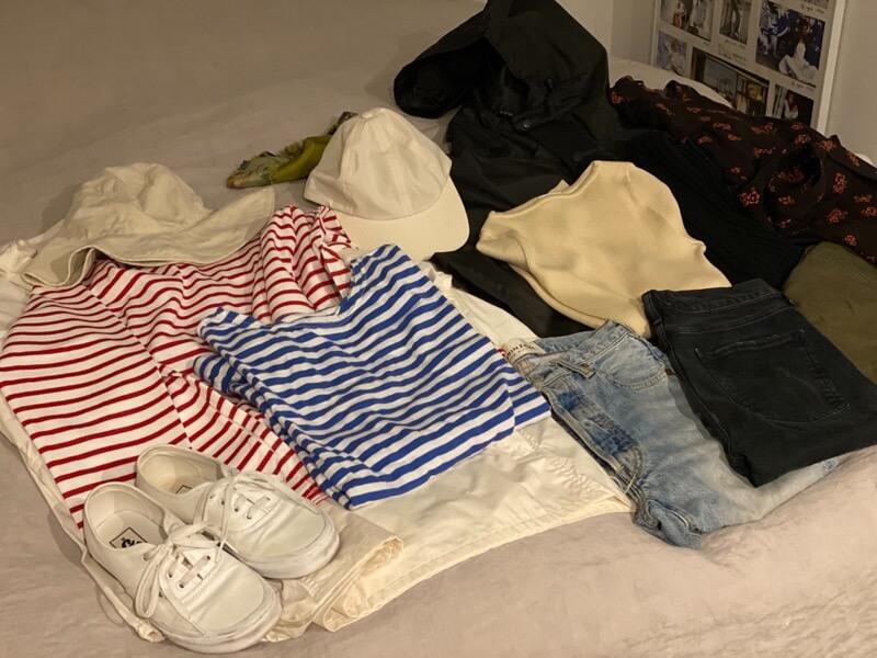 マコト的、旅の持ち物、洋服