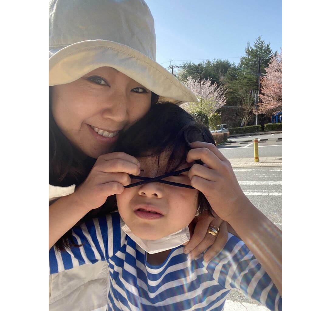 麻琴さんと息子さん