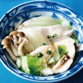 「水餃子風とろみゆで鶏」レシピ/きじまりゅうたさん