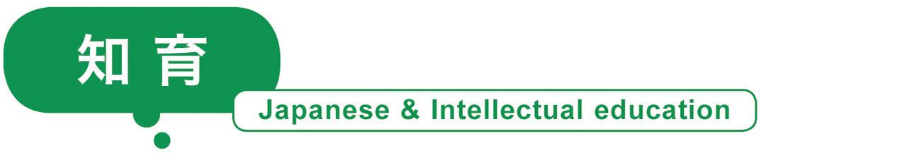 知育 Japanese & Intellectual education