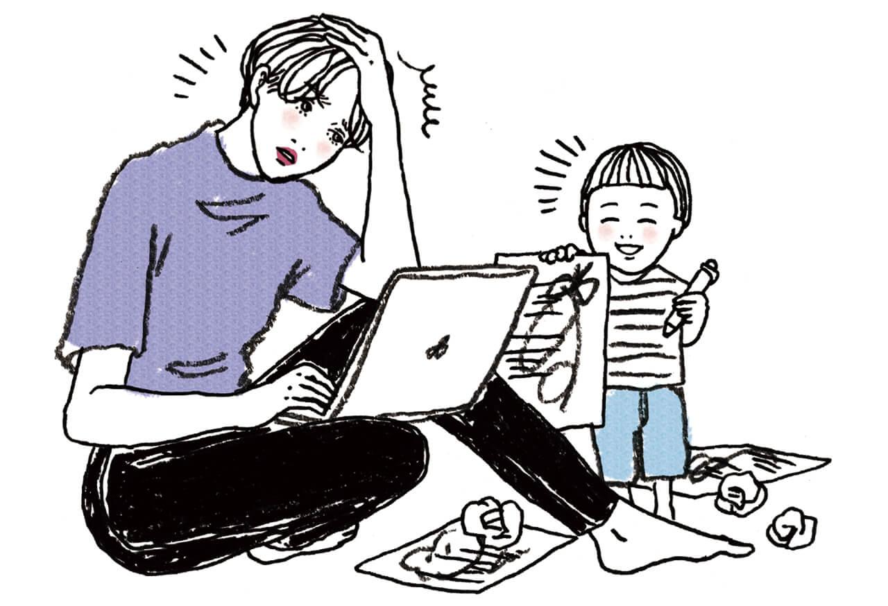 育児との両立のしやすさを感じる反面、子どもの世話をしながらの仕事に限界も