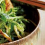 アイキャッチ画像:「豆苗とピーマン、油揚げのサラダ」レシピ/小堀紀代美さん