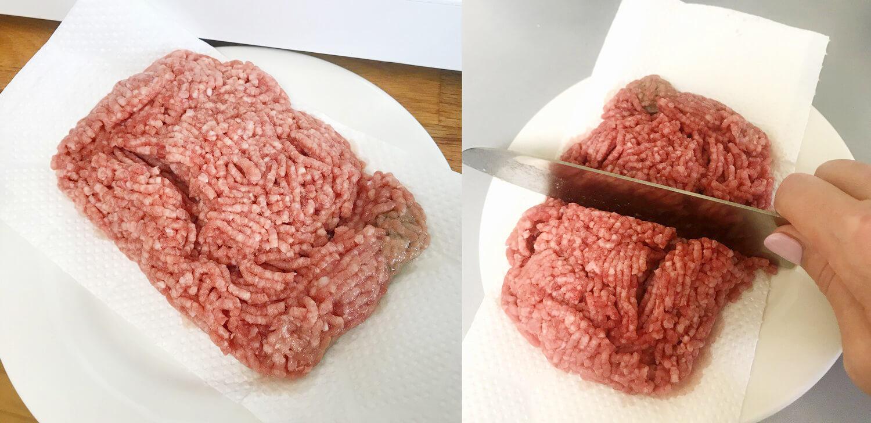 右角のところに若干加熱が強いところが見受けられましたが、包丁でサクッと切れるほぼパーフェクトな解凍状態