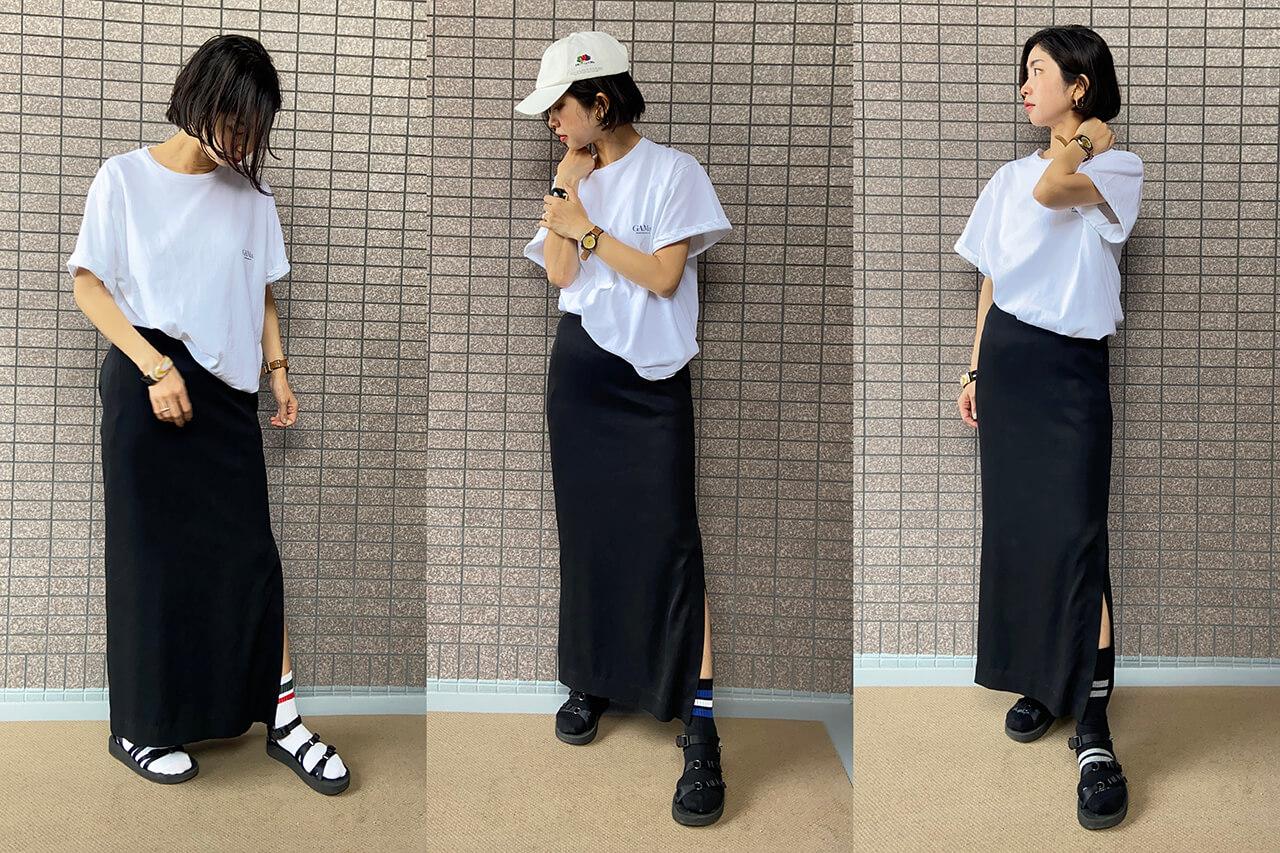 高木綾子/靴下/(右)パンセレラ (中央)(左)全てGU キッズ(BOYS)