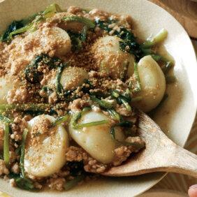 「鶏ひき肉とかぶのごま煮」レシピ/小林まさみさん