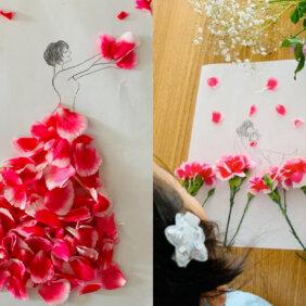 花びらでドレスを作る素敵な家遊び!梅雨時のおうち時間にもオススメの1冊「お花のドレス」
