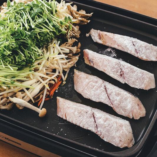 【ホットプレートで】「サワラの野菜きのこあんかけ」レシピ/黄川田としえさん