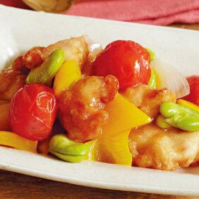 アイキャッチ画像:【フライパンひとつで酢豚風】「鶏肉とそら豆の酢豚風」レシピ/藤井 恵さん
